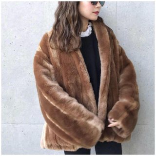 BEAUTY&YOUTH UNITED ARROWS - 6(ROKU) FAKE MINK FUR COAT フェイクミンクファーコート