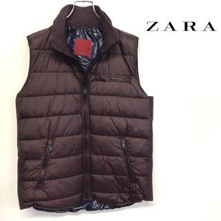 ザラ(ZARA)の美品 ZARA プリマロフト ベスト ボルドー メンズL(ダウンベスト)