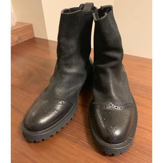 ワイズ(Y's)のy's(ヨウジヤマモト)革靴 size6 黒(ブーツ)