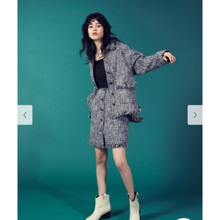 Lily Brown - 【lily brown 2019AW】ツイードジャケット
