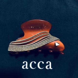 アッカ(acca)のacca♡ラインストーンヘアクリップ♡ブラウン系(バレッタ/ヘアクリップ)