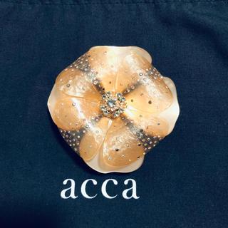アッカ(acca)のacca♡カメリアバレッタ♡お花♡ベージュ(バレッタ/ヘアクリップ)