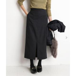 イエナスローブ(IENA SLOBE)のSLOBE IENA スエードライクタイトスカート◆40(ひざ丈スカート)