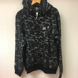 A BATHING APE - DSM x BAPE SHARK FULL ZIP HOODIE 黒 XL