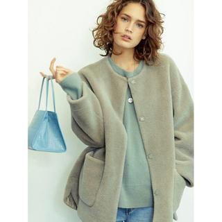 ミラオーウェン(Mila Owen)のMila Owen ノーカラーシャツカーブボアジャケット(ノーカラージャケット)