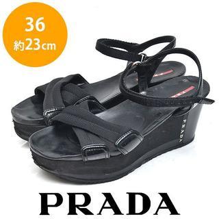 PRADA - プラダ ウェッジソールサンダル 36(約23cm)
