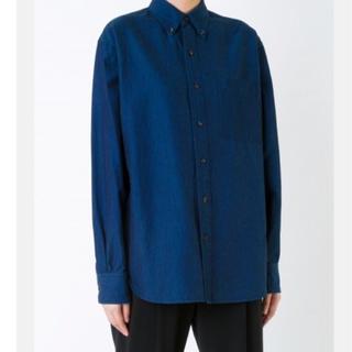 92*新品未使用 ENFOLD エンフォルド ユニセックスライン コットンシャツ