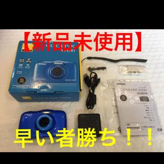 Nikon - 【新品未使用品】ニコンクールピクス W100 ブルー