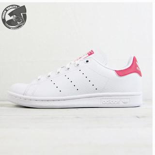 アディダス(adidas)のアディダス  スタンスミス ジュニア  ランニングホワイト/リアルピンク (スニーカー)