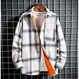 裏起毛 チェックシャツ裏ボア カジュアル 長袖シャツ シャツジャケット トップス(シャツ)