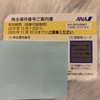 エーエヌエー(ゼンニッポンクウユ)(ANA(全日本空輸))のANA株主優待 2020年11月30日まで。  1枚 (その他)