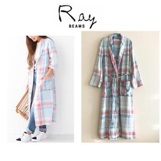 BEAMS - 【新品タグ付き】レイビームス ★チェックロングガウンシャツ 薄手ロングコート