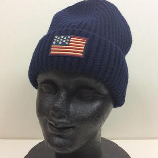ポロラルフローレン(POLO RALPH LAUREN)のPOLO  knitcap ネイビー 新品(ニット帽/ビーニー)