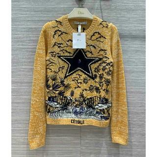ディオール(Dior)の美品!Dior ディオール セーター 刺繍  ウール  正規品(ニット/セーター)