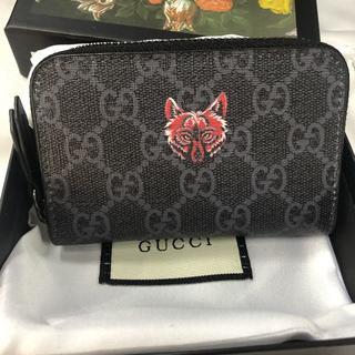 Gucci - GUCCI GGスプリーム ウルフ カード コインケース