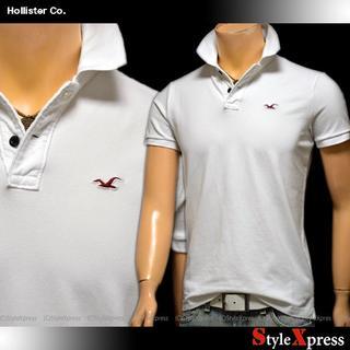 ホリスター(Hollister)の新品 ホリスター 白 L ストレッチポロシャツ ワンポイント 説明必読(ポロシャツ)