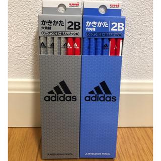 アディダス(adidas)の三菱鉛筆♡2B&赤鉛筆 2ダース24本 アディダス(鉛筆)