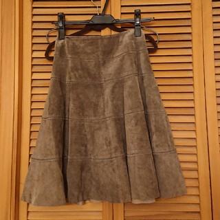 スコットクラブ(SCOT CLUB)の【まりたん様】新品未使用 SCOTCLUB 本革スカート(ひざ丈スカート)