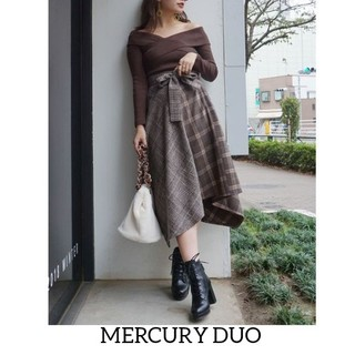 MERCURYDUO - 極美品マーキュリーデュオのロングブロッキングチェックスカート