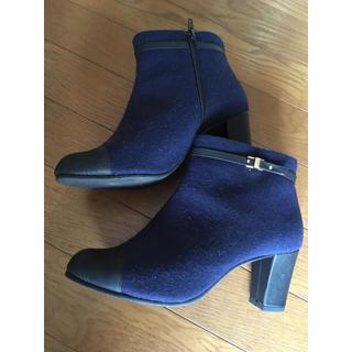 ジェリービーンズ(JELLY BEANS)の紺色 きれい目 ブーツ(ブーツ)
