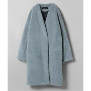 ジーナシス(JEANASIS)のジーナシス☆ノーカラー ボア コート(毛皮/ファーコート)