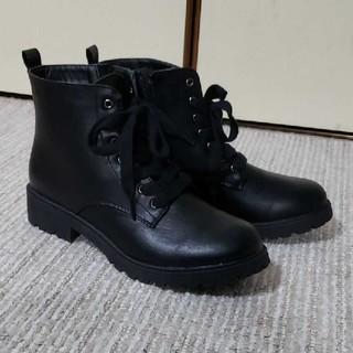 タンクソールブーツ ショートブーツ ブラック(ブーツ)