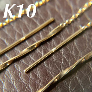 JEWELRY TSUTSUMI - k10  スクリューバー チェーン シンプル アメリカンピアス