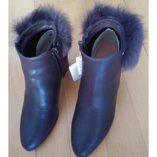 OPAQUE.CLIP - 【新品タグ付】Dessunのファー付ブーツ