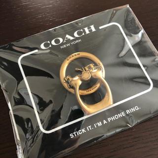 COACH - 新品未開封 COACH スマホリング