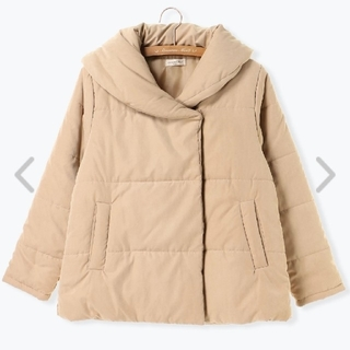 中綿ショールカラージャケット