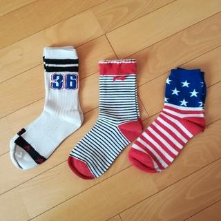 ウィゴー(WEGO)のアメリカンポップな靴下3点セット(ソックス)