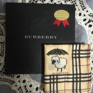 BURBERRY - BURBERRY 人気の羊とパラソルのハンカチ