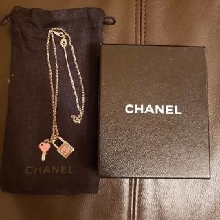 CHANEL - CHANEL PINK❤️キーチャームネックレス
