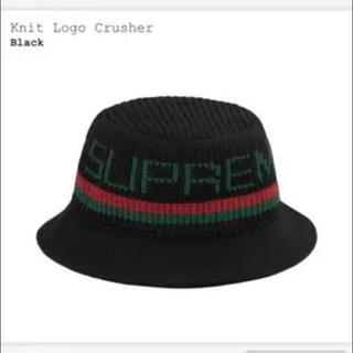 Supreme - SUPREME Knit Logo Crusherhat 黒