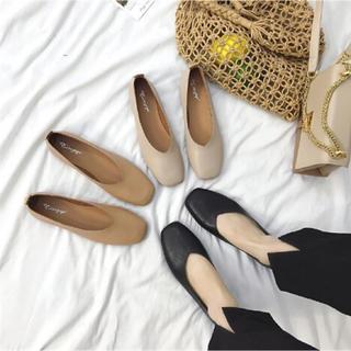 靴 シューズ パンプス シンプル ファッション (23.5cm)ベージュ(ハイヒール/パンプス)