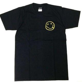 〇ニルヴァーナ Tシャツ チョビニコ 2 イエロー M ブラック ニルバーナ(Tシャツ/カットソー(半袖/袖なし))