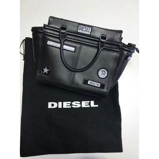 DIESEL - 《DIESEL》ディーゼル ワッペン付きレザーバッグ ブラック f195
