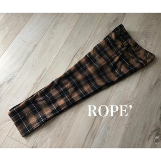 ROPE - 美品!ロペ★タータンチェック センタープレスパンツ 40 L 秋 冬