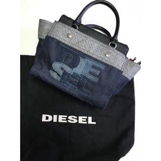 DIESEL - 《DIESEL》ディーゼル ×デニムロゴパッチバッグ f196