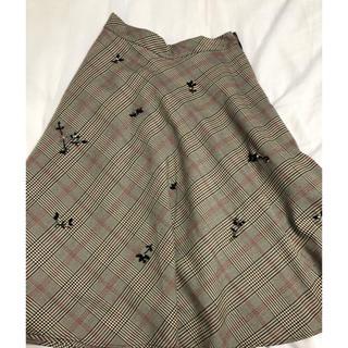 JILLSTUART - チェックロングスカート