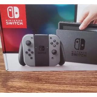 Nintendo Switch - 送料無料 新品 ☆特典液晶シートつき 任天堂 ニンテンドースイッチ 本体 グレー