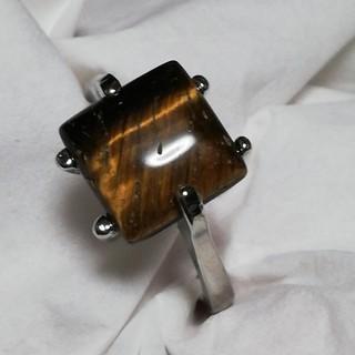 天然石 リング タイガーアイ 20号 ユニセックス(リング(指輪))