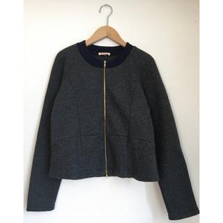 Marni - MARNI wool ノーカラー ジャケット