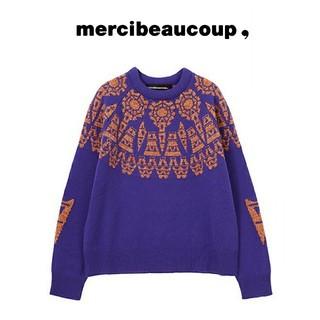 mercibeaucoup - mercibeaucoup, メルシーボークー タワーニット トップス セーター