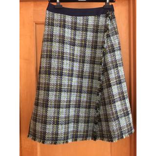 Drawer - ドゥロワー チェック ツイード スカート サイズ36
