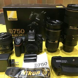 Nikon - NikonニコンD750 N24-70 N70-200セット!極上美品!
