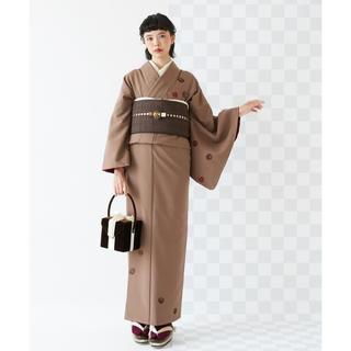 フリフ(ふりふ)の【 ふりふ 】飛び柄着物 チョコレート(着物)