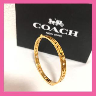 COACH - クリスマスセール!!!【美品♡】コーチ バングル ブレスレット ゴールド