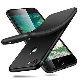 ブラックMreechan iPhone7 iPhone8 ケース 全面保護 指紋