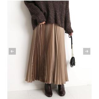 IENA - SLOBE IENA サテンプリーツスカート